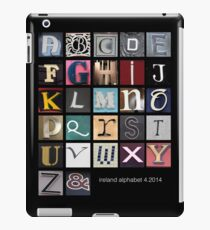 Irish Alphabet iPad Case/Skin