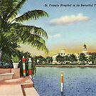 St. Francis Hospital in its Beautiful Tropical Setting, Miami Beach, Florida Vintage Postcard by Framerkat