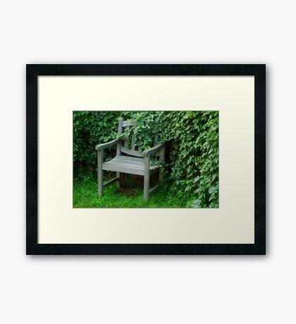 Garden Nook Framed Print