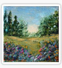 Journey 2, impressionism landscape Sticker