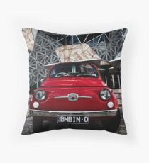 Red Bambino Throw Pillow