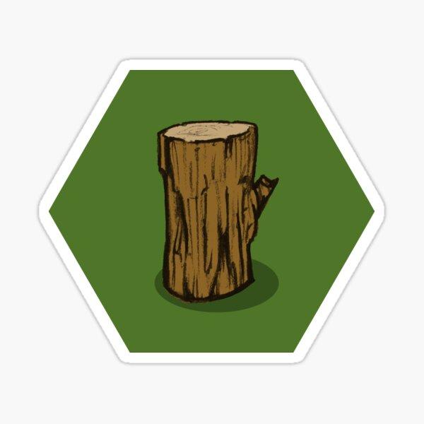 Wood Hex Sticker