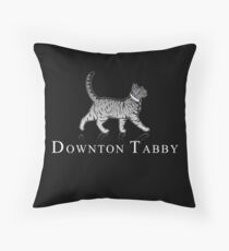 Downton Tabby Throw Pillow