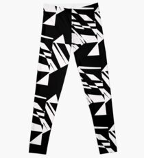 Black and White #8 by Julie Everhart Leggings