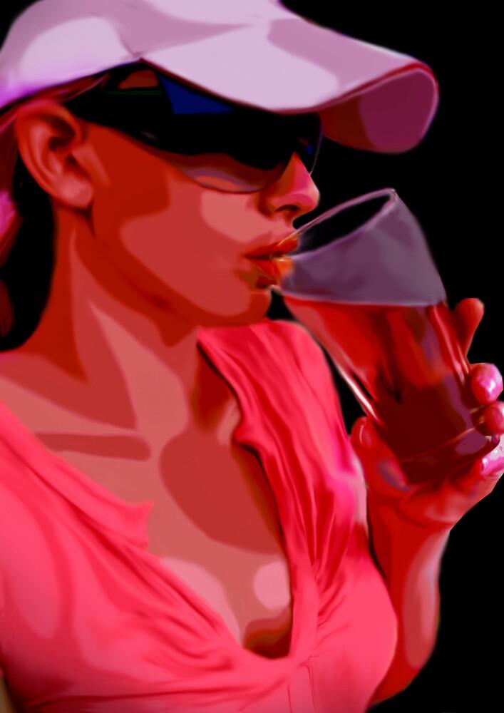 Girl & Beer by Cliff Vestergaard