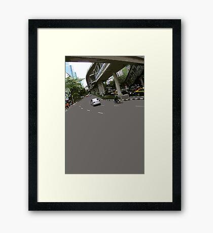 asphalt & bridges 1 Framed Print