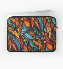 Tribal Pattern with Feathers Laptop Sleeve
