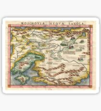 Antique Map - Ruscelli's Moscow (1574) Sticker