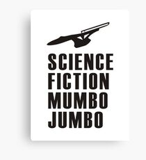 Science Fiction Mumbo Jumbo Starship Canvas Print