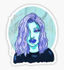 Monochromatic chick Sticker