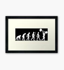 Evolution of Man - Weightlifter Framed Print