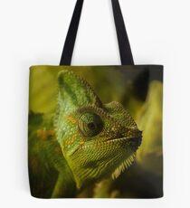 Funny pair of the chameleons. Amusing animal glance Tote Bag
