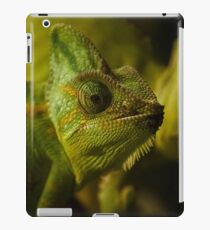 Funny pair of the chameleons. Amusing animal glance iPad Case/Skin