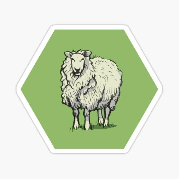 Sheep Hex Sticker