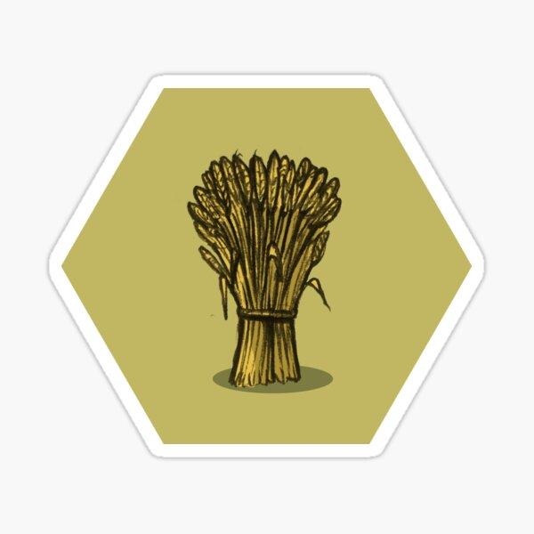 Wheat Hex Sticker