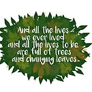 Woolf Leaves Quote by schlarr