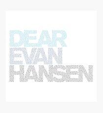 Dear evan hansen Photographic Print