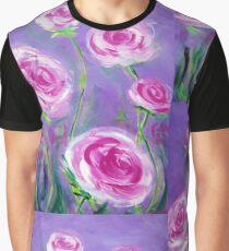 Pink Roses Graphic T-Shirt