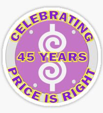 TV Game Show - TPIR (The Price Is...) Celebrating 45 Years Sticker