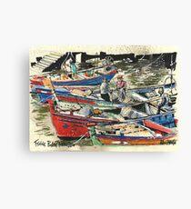Fishing Boats, Ferragudo, Portugal Canvas Print