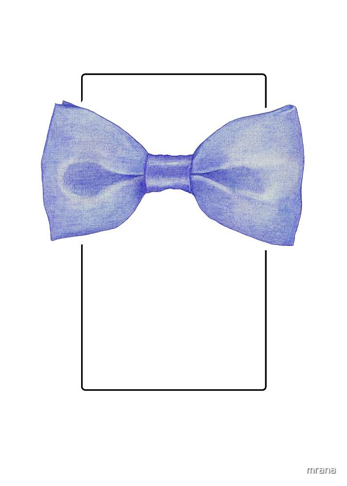 Blue bowtie by Mariana Musa