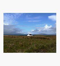 Old Irish coastal cottage, Co Kerry, Ireland Photographic Print