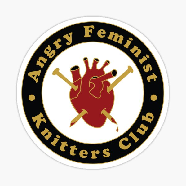 Angry Feminist Knitters Club Sticker