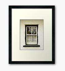 Irish Country Cottage Window Framed Print