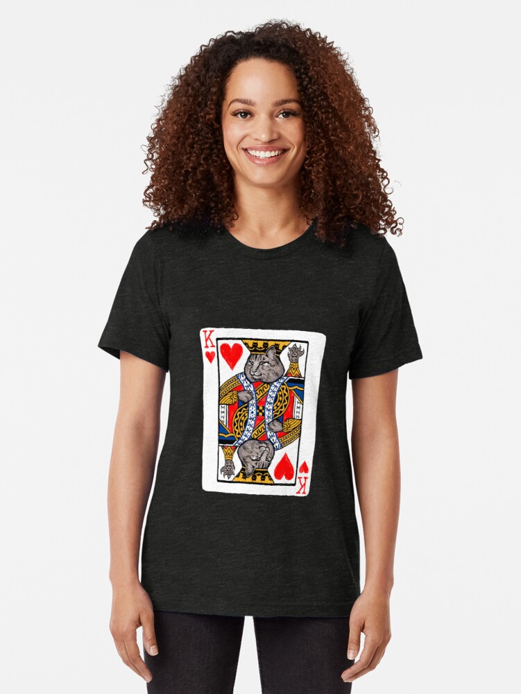 Alternate view of Moriarty, King of Hearts Tri-blend T-Shirt