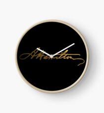 Alexander Hamilton Gold Signature Clock