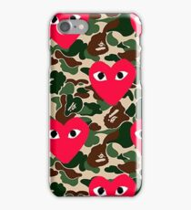 Bape Commes Des Camo iPhone Case/Skin