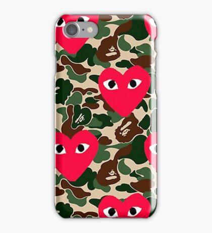 Bape Commes Des Camo iPhone Case/Skin