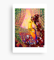 On stage... Canvas Print