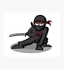 Cartoon Ninja Warrior Photographic Print