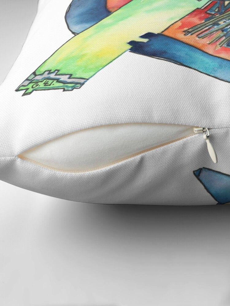 Alternate view of Art Therapy Throw Pillow