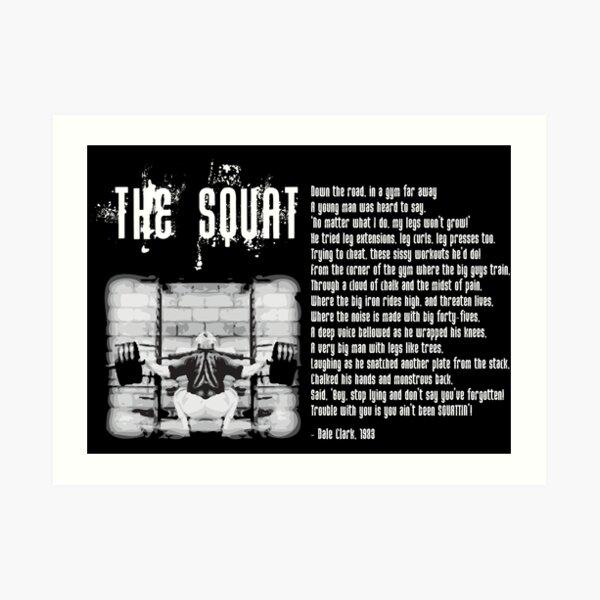 The Squat Poem Art Print
