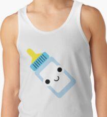 Milchflasche Emoji Schock und Überraschung Tank Top