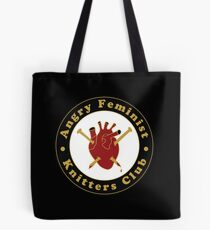 Angry Feminist Knitters Club Tote Bag