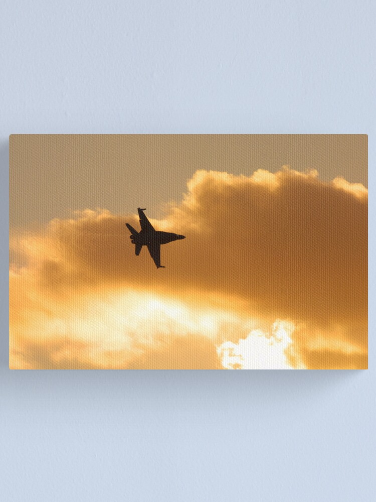 Alternate view of Sunset flyby Canvas Print