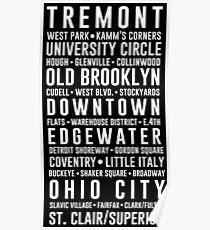 Cleveland Neighborhoods Poster