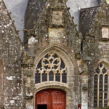 Ornate Church Entrance & Facade - Rochefort-en-Terre  - Brittany, France by Buckwhite