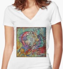 Pisces Crescendo Women's Fitted V-Neck T-Shirt