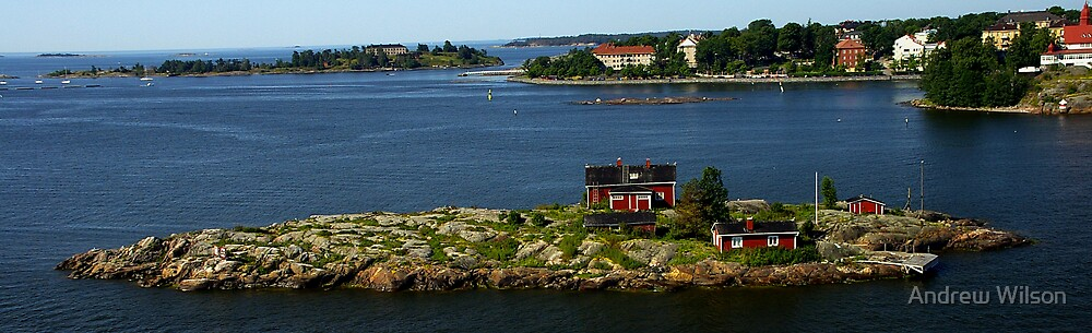 Finland island Home by Andrew Wilson