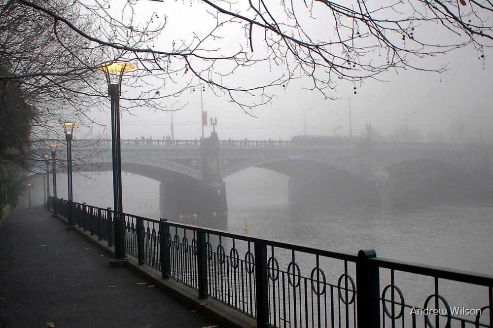 Foggy Princes Bridge by Andrew Wilson