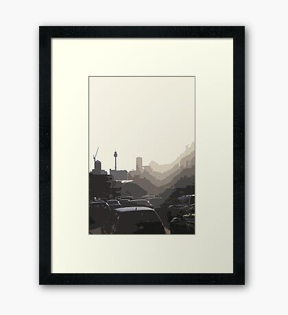 sizzle Framed Print