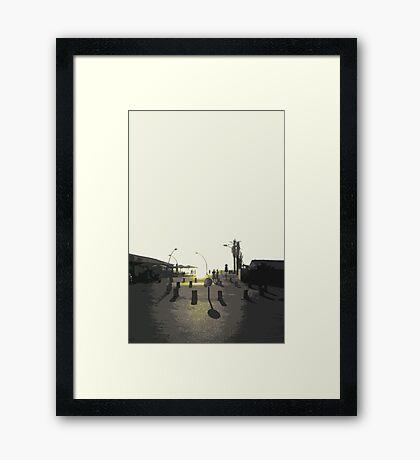 tel aviv sunset Framed Print
