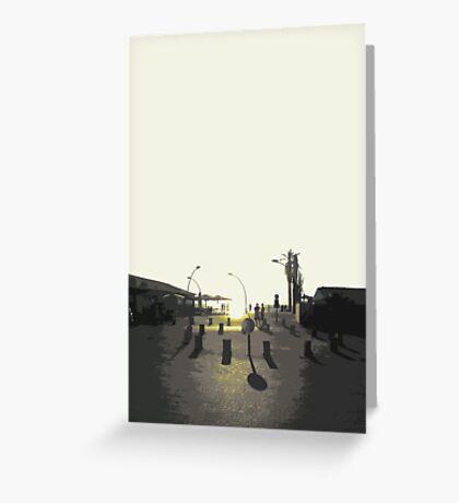 tel aviv sunset Greeting Card