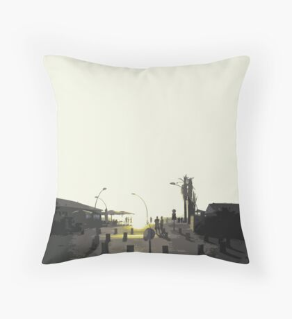 tel aviv sunset Throw Pillow