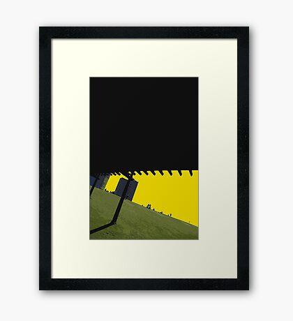 green hill Framed Print