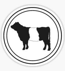 Belted Galloway Cow Sticker